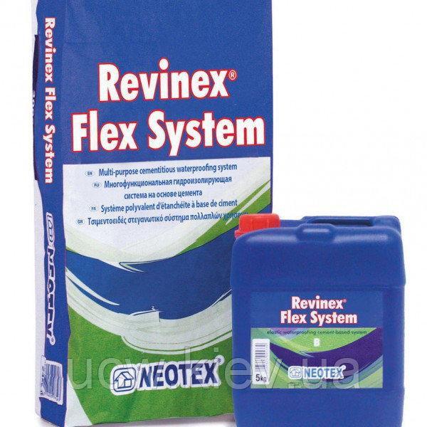 Экономичная гидроизоляционная система REVINEX FLEX U360 (A+B) 25+10 кг