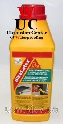 Универсальная добавка для тонкослойных штукатурок и стяжек SikaLatex, 1 кг.