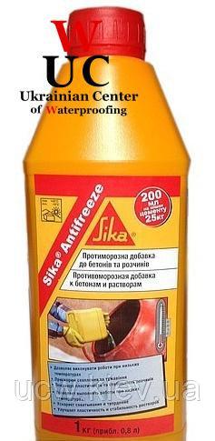 Добавка для бетонирования при пониженных температурах Sika Antifreeze 1 кг.