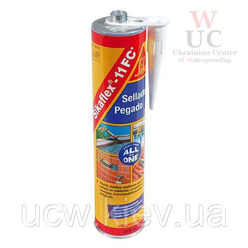 Универсальный полиуретановый клей-герметик Sikaflex-11FC+, 300 мл. (серый)