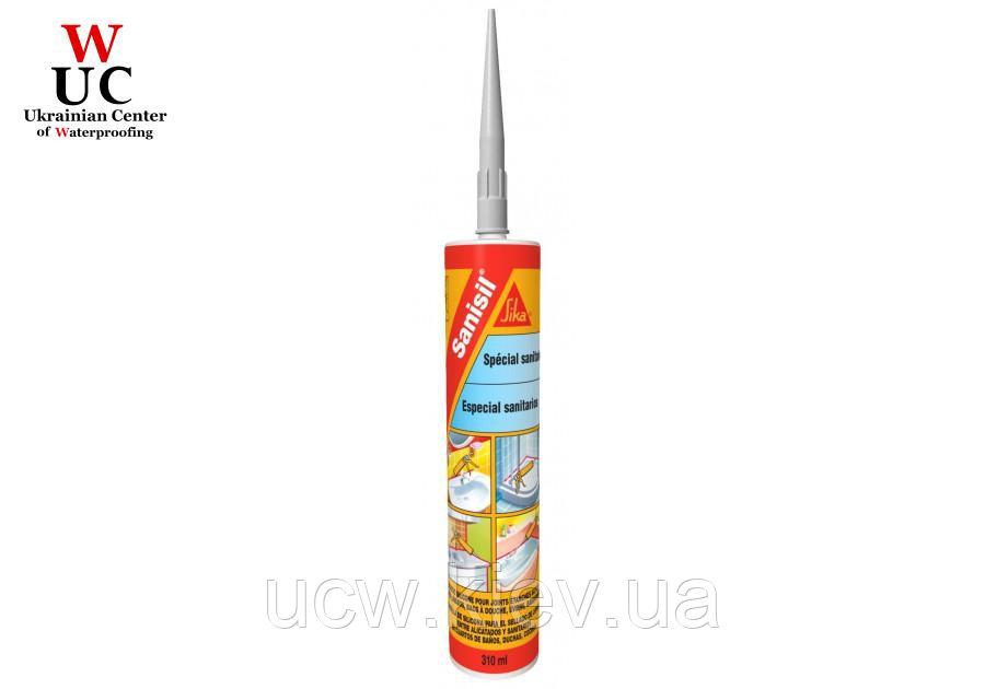 Санитарный силиконовый герметик Sika Sanisil, 300 мл. (белый)