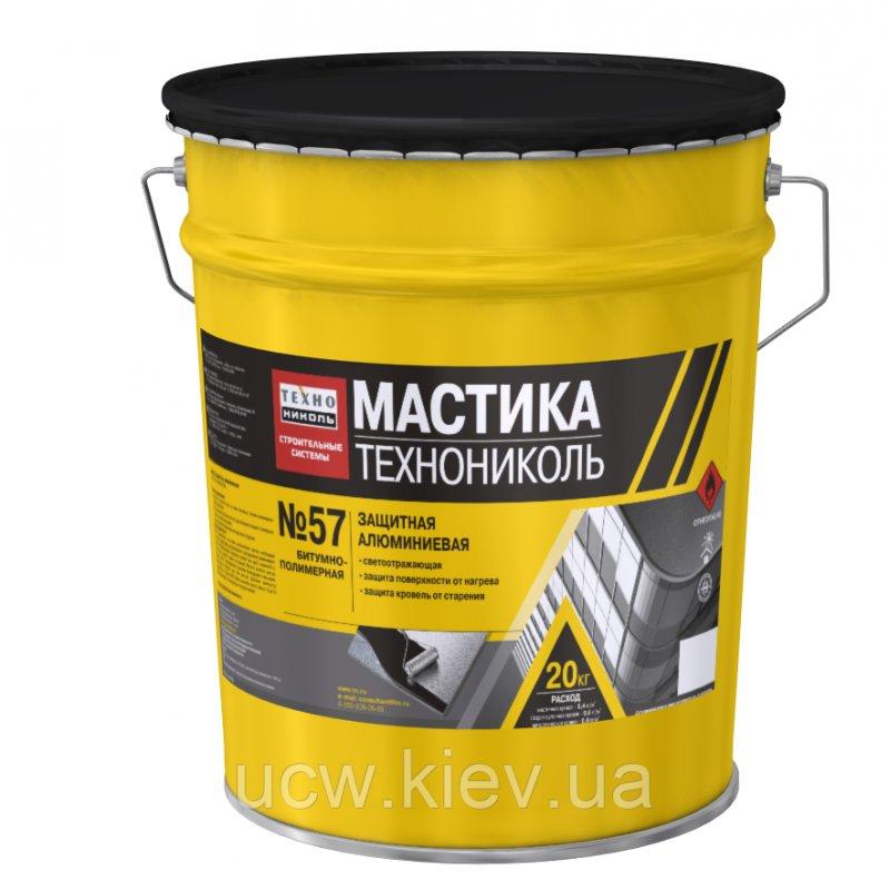 Защитная алюминевая мастика ТехноНиколь № 57 20 кг
