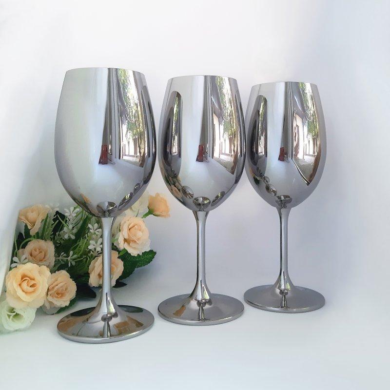 Купить Набор бокалов для вина Bohemia Sylvia 450 мл хром