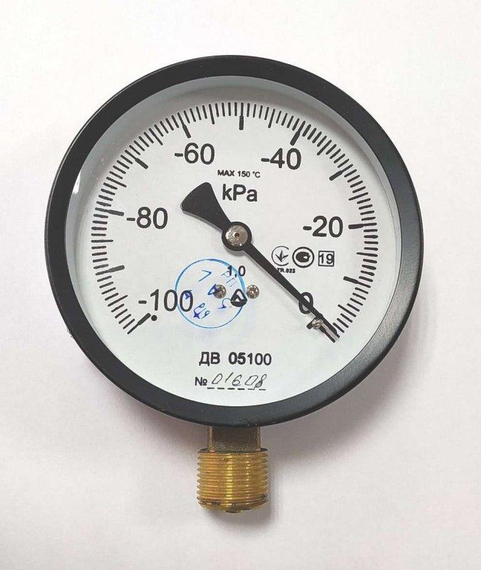 Купить Вакуумметр ДВ 05100 (Диаметр корпуса: 100 мм; КЛ: 1; М20х1.5) IP53. Латунь