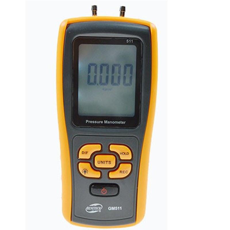 Купить Цифровой дифференциальный манометр Benetech GM511 (0.01/10 кПа) USB интерфейс, МАХ давление 50 кПа, АТС