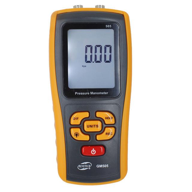 Купить Дифференциальный микроманометр Benetech GM505 (0.01/2,49 кПа; 0,01/24.9 mbar ) USB интерфейс