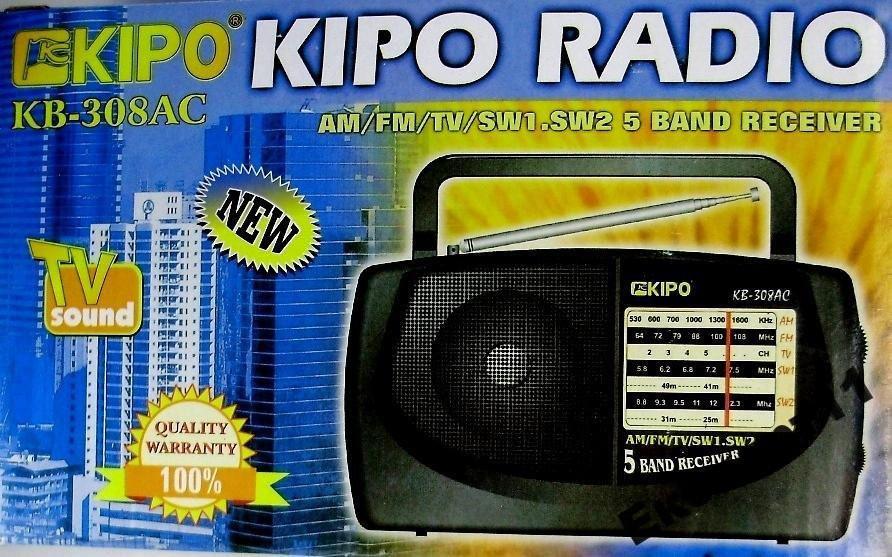Купить Радиоприемник KIPO AM/FM/TV/SW1/SW2 5 каналов
