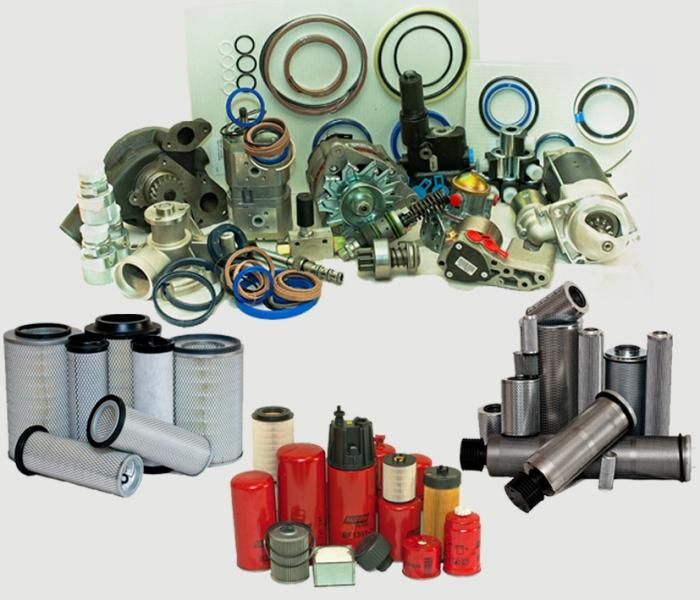 Spare parts under a model range of Atlas, Komatsu, Hitachi
