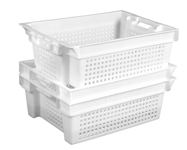 Ящик пластиковый перфорированный 600x400x200мм белый
