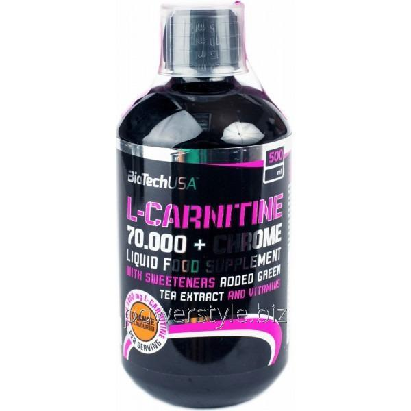 Жиросжигатель L-Carnitine 70 000 + Chrome (500 мл)
