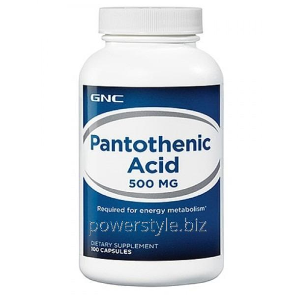 Минералы Pantothenic Acid 500 mg (100 капсул)