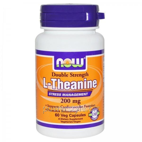Аминокислота Double Strength L-Theanine 200 mg (60 veg капсулы)