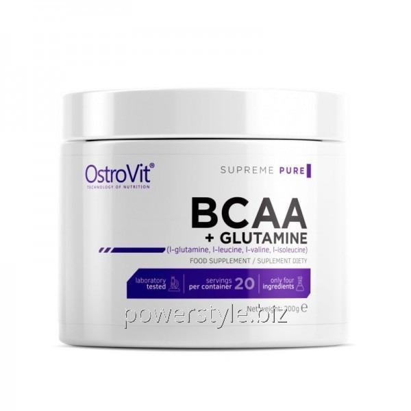 Аминокислота BCAA + L-Glutamine (200 грамм)