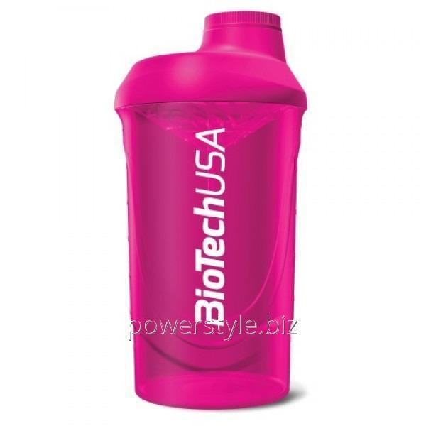 Шейкер Shaker Wave BioTech USA Розовый(600 мл)