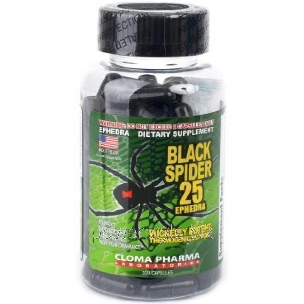 Жиросжигатель Black spider 25 Ephedra original (100 капсул)