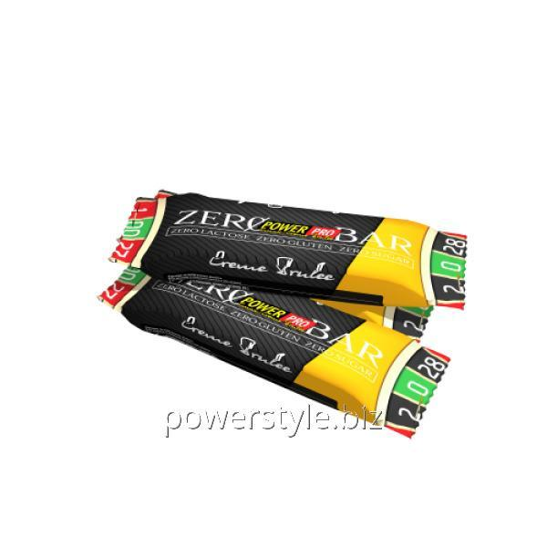 Спортивный батончик Power Pro 44% Zero Bar крем брюле (60 грамм)