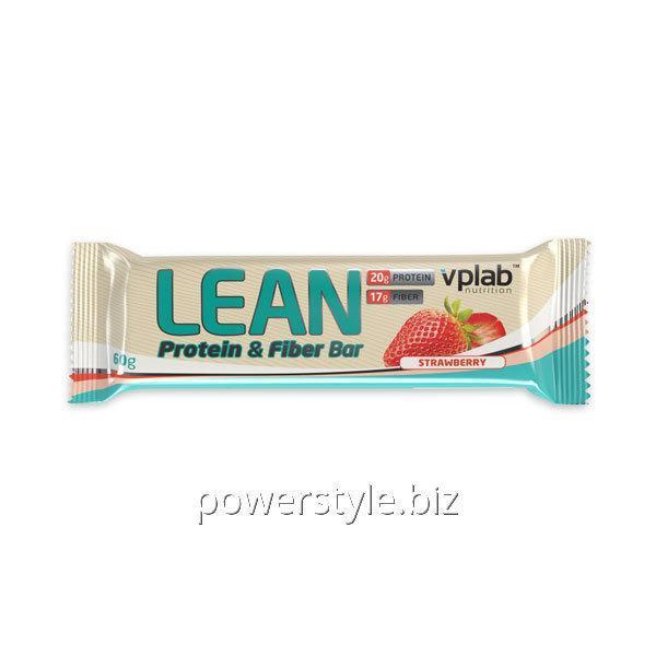 Спортивный батончик Lean Protein & Fiber Bar Клубника (60 грамм)