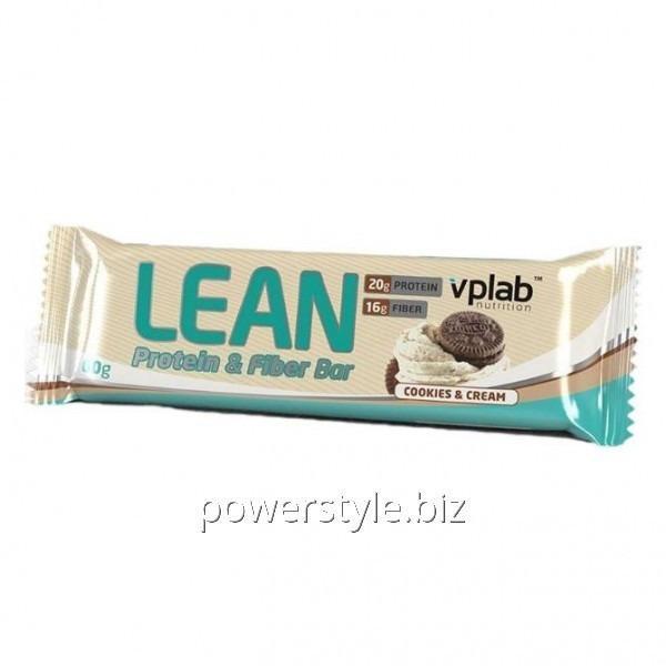Спортивный батончик Lean Protein & Fiber Bar Печенье со сливками (60 грамм)