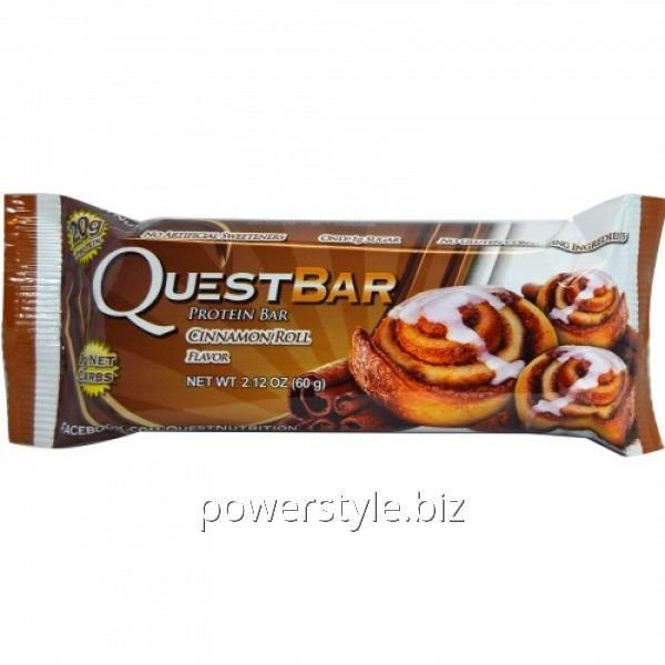 Спортивный батончик Quest Protein Bar булочка с корицей (60 грамм)