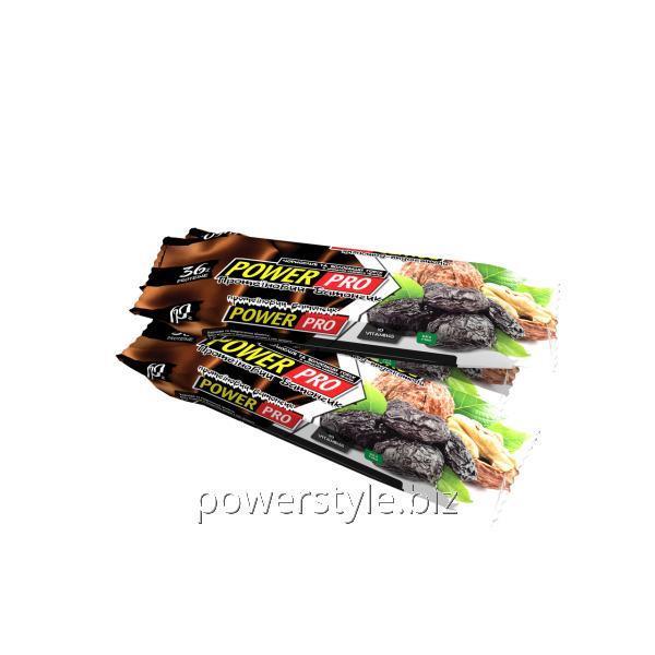 Батончик Power Pro 36% орех Nutella чернослив и волошский орех (60 грамм)