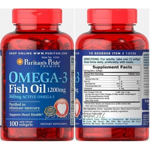 Минералы Omega-3 Fish Oil 1200 mg (100 капсул)