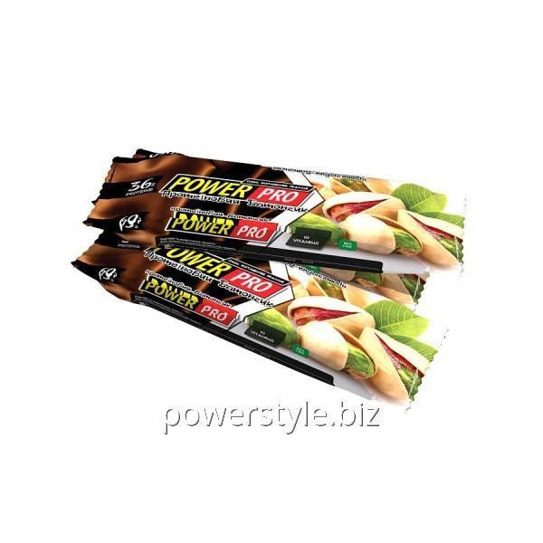 Блок батончиков Power Pro 36% орех Nutella фисташковое пралине (60 грамм) - 20 шт