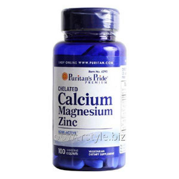 Добавки для спортсменов Chelated Calcium Magnesium Zinc (100 капсул)