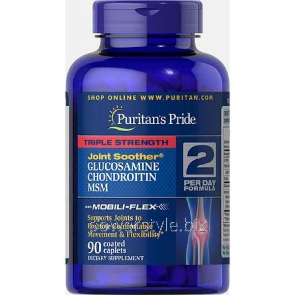 Добавки для спортсменов Glucosamine Chondroitin with MSM (90 таблетс)