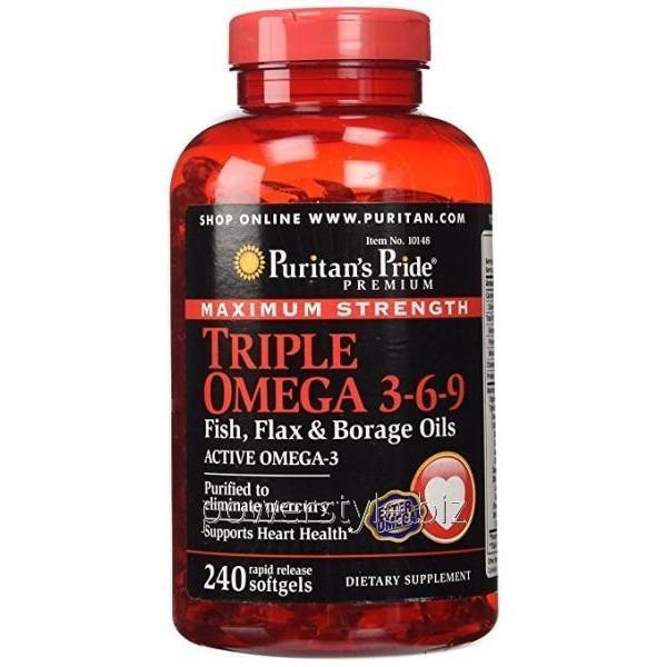 Витамины Maximum Strength Triple Omega 3-6-9 (240 капсул)