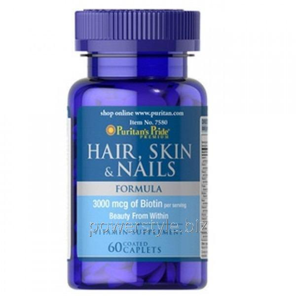 Минералы Hair, Skin & Nails Formula (60 таблетс)