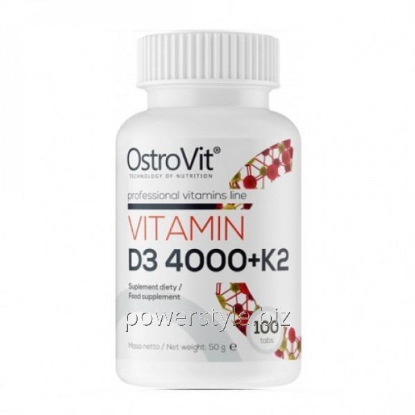 Минералы Vitamin D3 4000+K2 (100 таблетс)