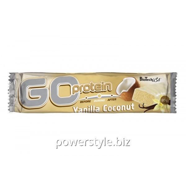 Спортивный батончик Go Protein Bar (80 грамм) vanilla-coconut
