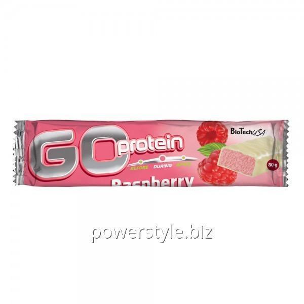 Спортивный батончик Go Protein Bar (80 грамм) raspberry