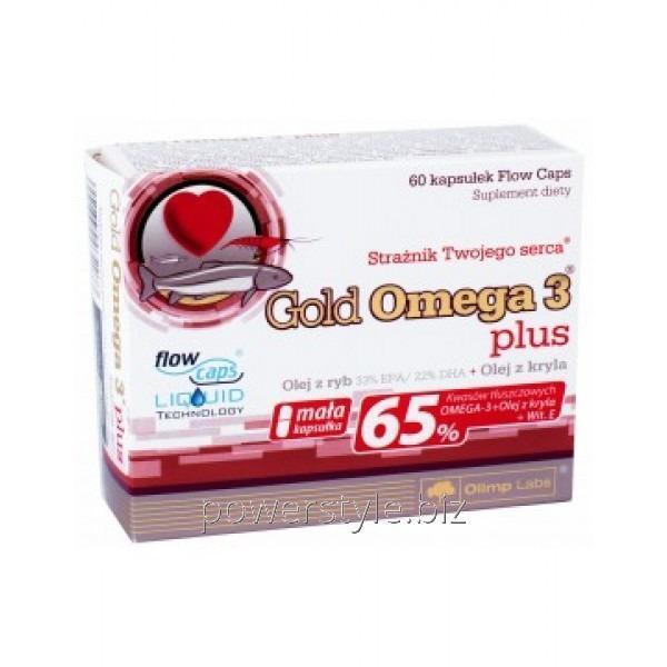 Купить Минералы Olimp Nutrition Gold Omega 3 65% plus vit. E (60 капс)
