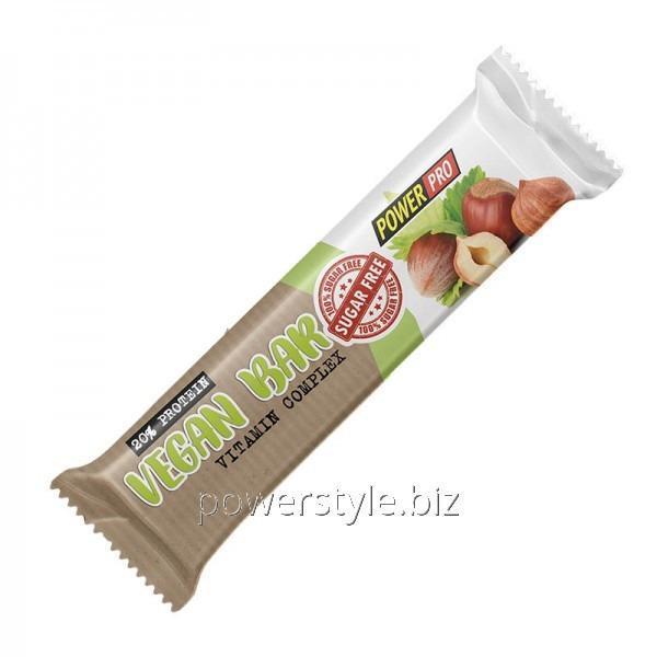 Купить Спортивный батончик Power Pro Vegan Bar БЕЗ САХАРА, 60 грамм - орехи и сухофрукты