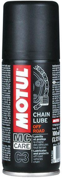 Купить Смазка для цепей внедорожных мотоцыклов. (Аэрозоль) MOTUL C3 CHAIN LUBE OFF ROAD (100ML)