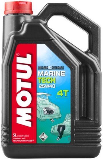 Купить Моторное масло для водной техники 25w40 Motul Marine tech 4T SAE 25W40 (5L)