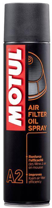 Купить Клейкое масло, Аэрозоль для воздушного фильтра мотоциклов Motul A2 AIR FILTER OIL SPRAY (400ML)