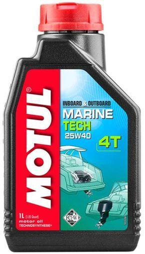 Купить Моторное масло для водной техники 25w40 Motul Marine tech 4T SAE 25W40 (1L)