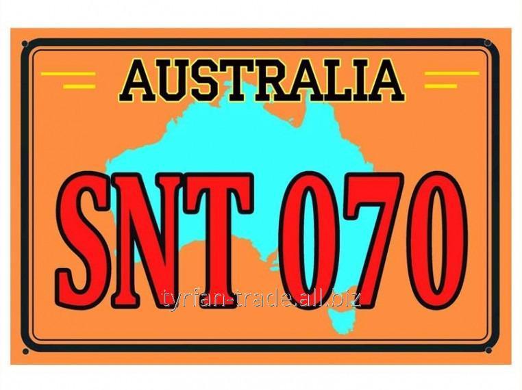 Купить Декоративный номер австралия (изготовим за 1 час)