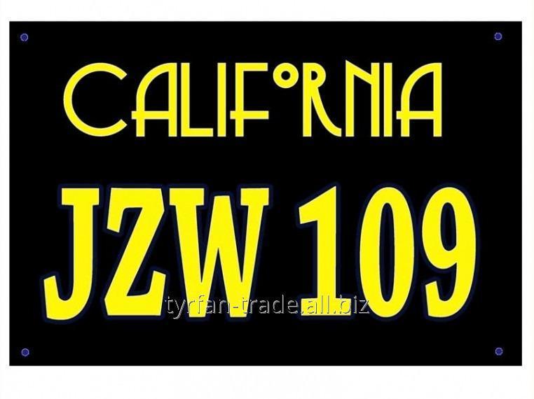 Купить Американский номер Калифорния (Изготовим за 1 час)