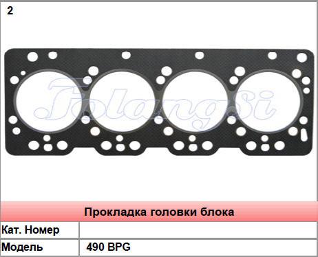 Прокладки головки блока цилиндров для двигателей 490 BPG погрузчиков в Украине, Купить, Цена, Фото