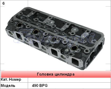 Головка цилиндра для двигателей 490 BPG погрузчиков в Украине, Купить, Цена, Фото