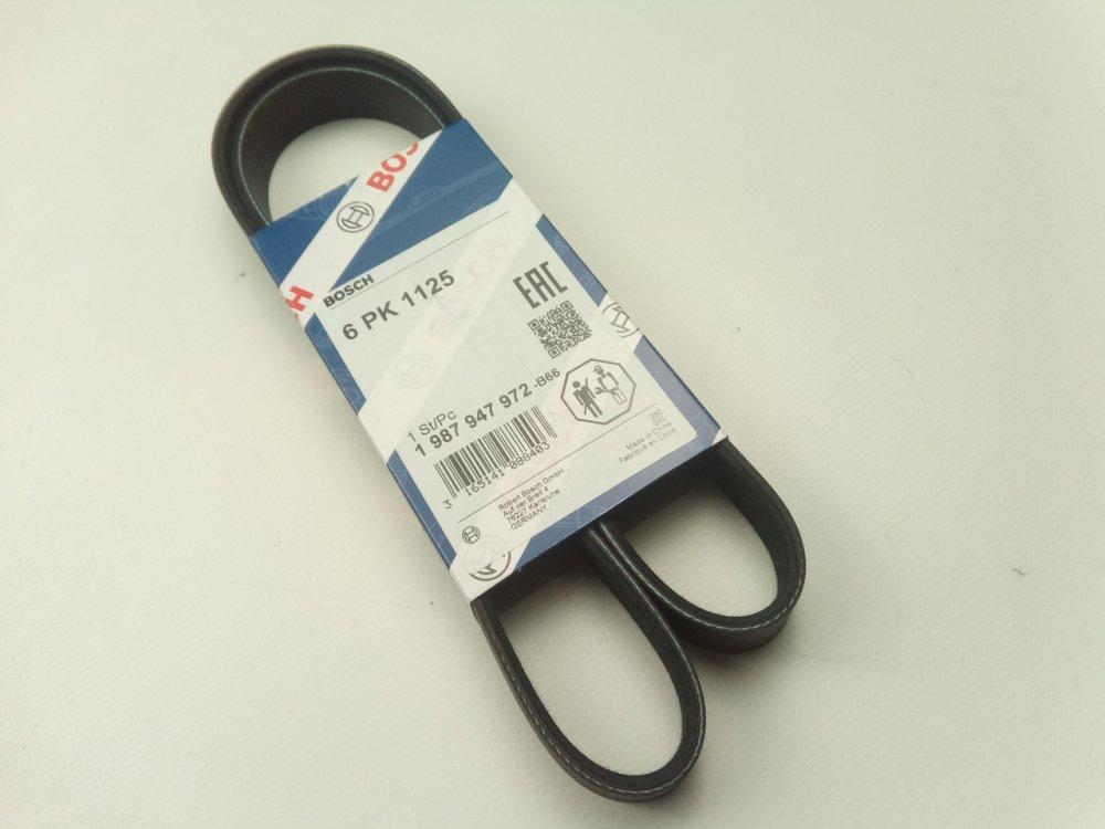 Купить Ремень генератора ручейковый ВАЗ 2110, 2170 (с ГУР + кондиционер), BOSCH (6PK1125) 1987947972