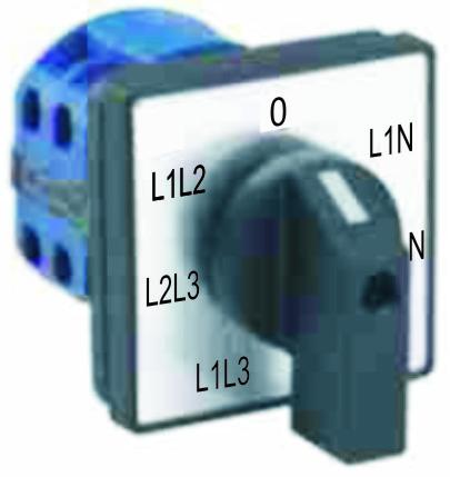 Переключатель вольтметров для измерения линейных и фазовых напряжений LK-SK-3-8894  СПАМЕЛ