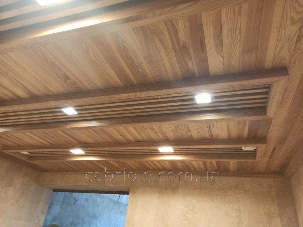 Деревянные потолки на заказ . Деревянный декор на потолок .