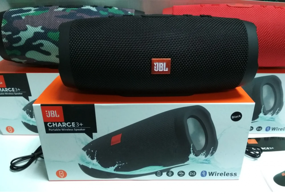 Колонка Bluetooth JBL Charge 3 black копия