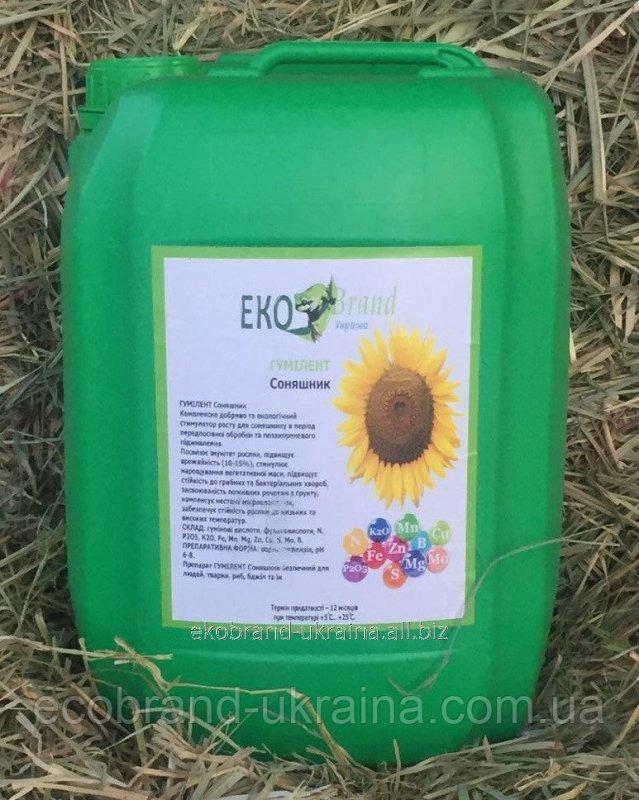 Купить Гумилент для подсолнуха (гумат) внекорневая подкормка по листу, стимулятор роста растений