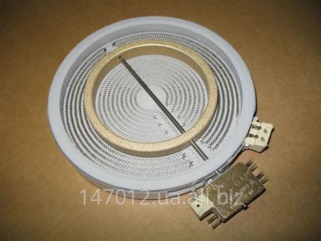 Конфорки электрические чугунные, стеклокерамические (ribbon), галогеновые, индукционные к плитам и варочным...