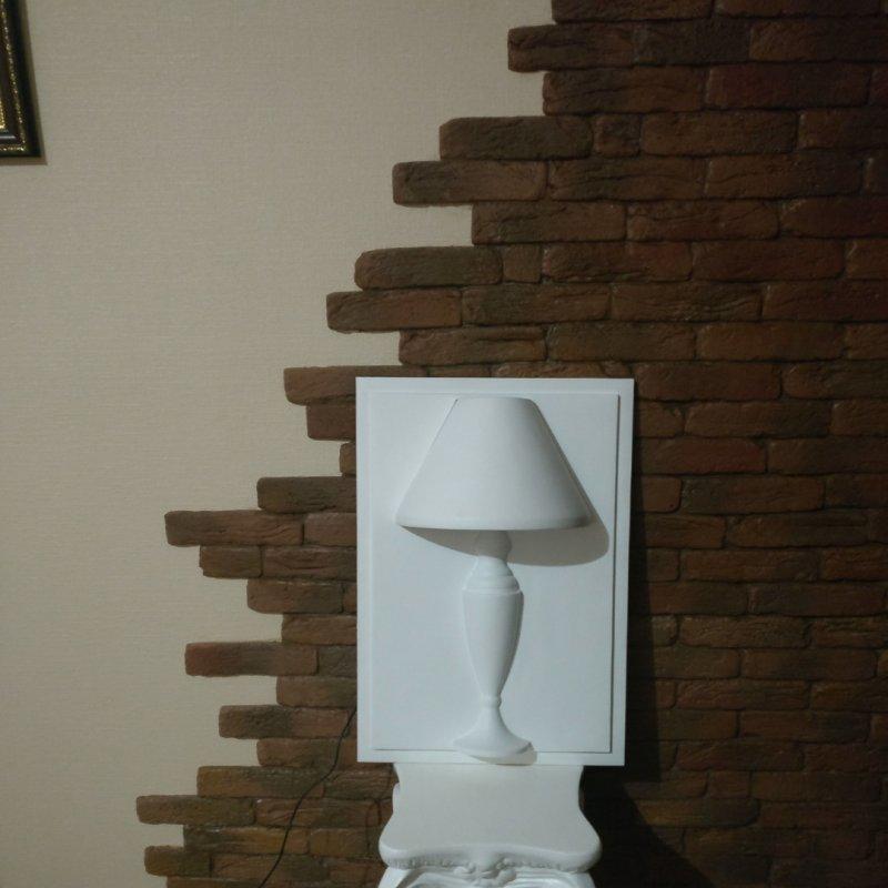 Купить Гипсовая декоративная панель ЛАМПА